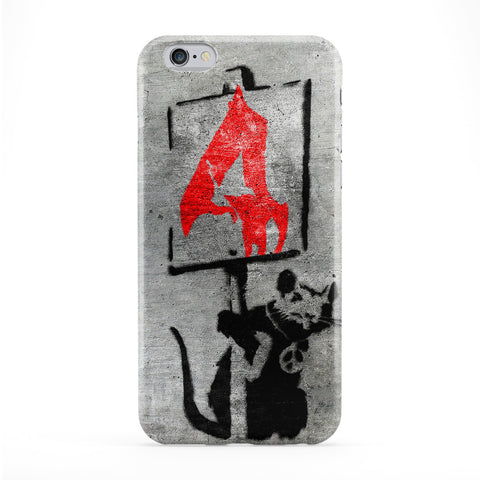 Banksy Rat with Sign Phone Case by Banksy