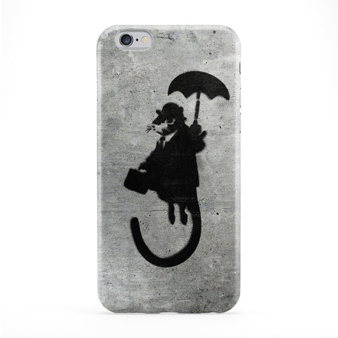 Banksy Rat with Umbrella Phone Case by Banksy