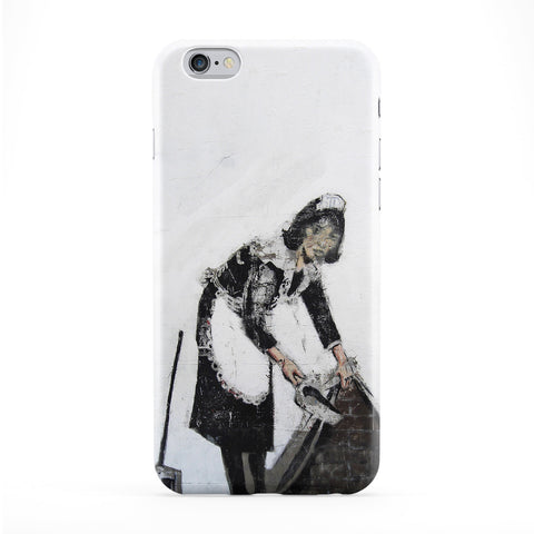 Cleaning Lady Phone Case by Banksy