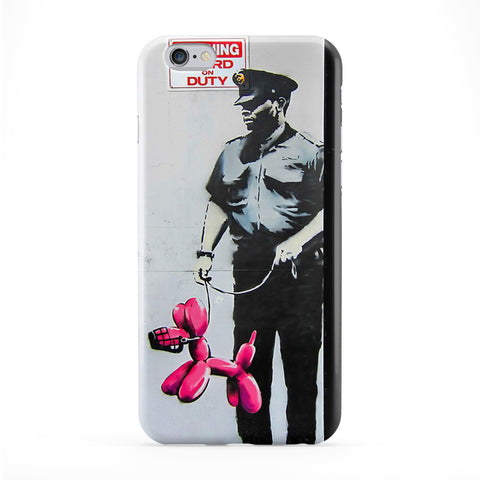 Policeman with Baloon Puppy Phone Case by Banksy
