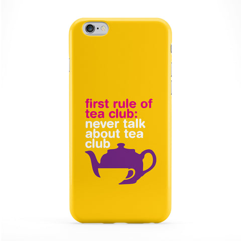 First Rule of Tea Club Phone Case by Chargrilled