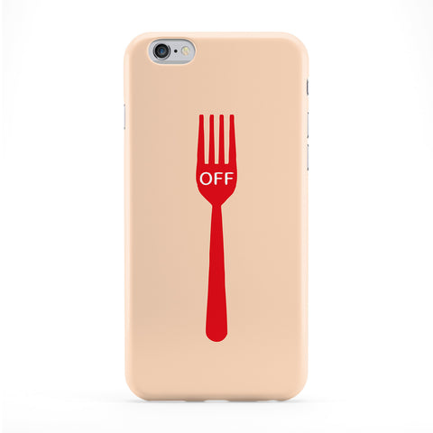 Fork Off Full Wrap Protective Phone Case by Chargrilled