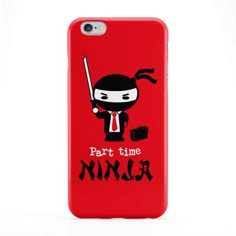 Part Time Ninja Full Wrap Protective Phone Case by Chargrilled