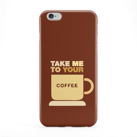 Take Me To Your Coffee Full Wrap Protective Phone Case by Chargrilled