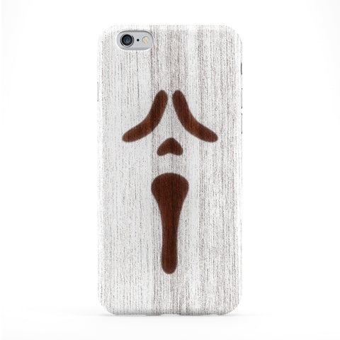 White Spray On Wood_Scarry Full Wrap Protective Phone Case by Chargrilled
