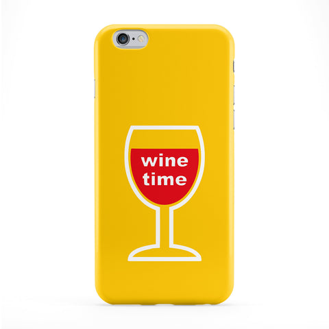 Wine Time Full Wrap Protective Phone Case by Chargrilled