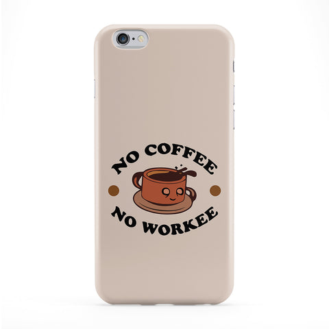 No Coffee No Workee Phone Case by Chargrilled