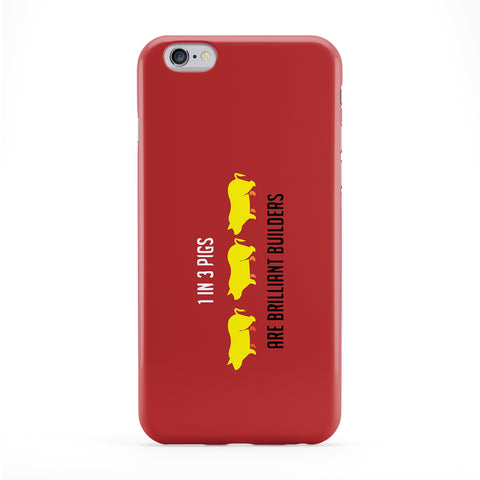 One in Three Pigs are Brilliant Builders Phone Case by Chargrilled