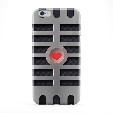 Retro Gadgets - Microphone Full Wrap Protective Phone Case by DevilleArt