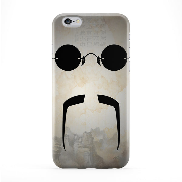 Fu Manchu Moustache Full Wrap Protective Phone Case by DevilleArt