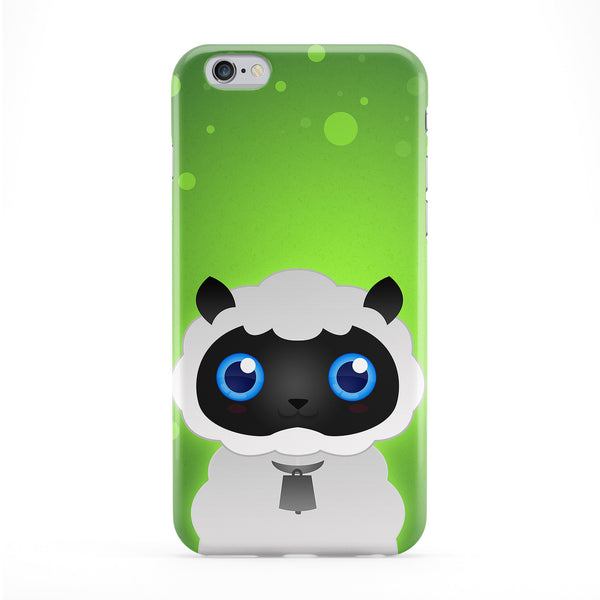 Cute White Sheep Full Wrap Protective Phone Case by DevilleArt