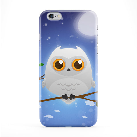 Cute White Owl Phone Case by DevilleArt