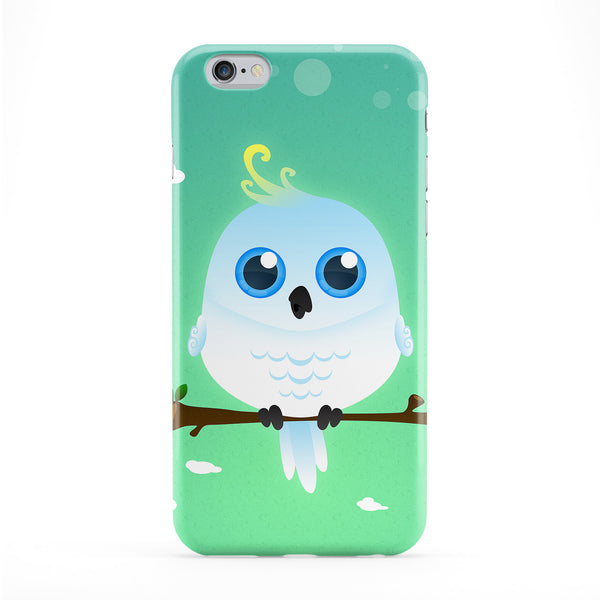 Cute White Cockatoo Full Wrap Protective Phone Case by DevilleArt