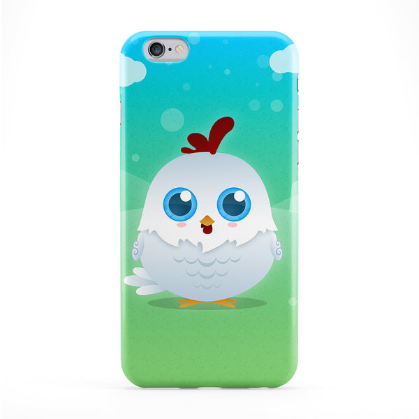 Cute White Chicken Phone Case by DevilleArt