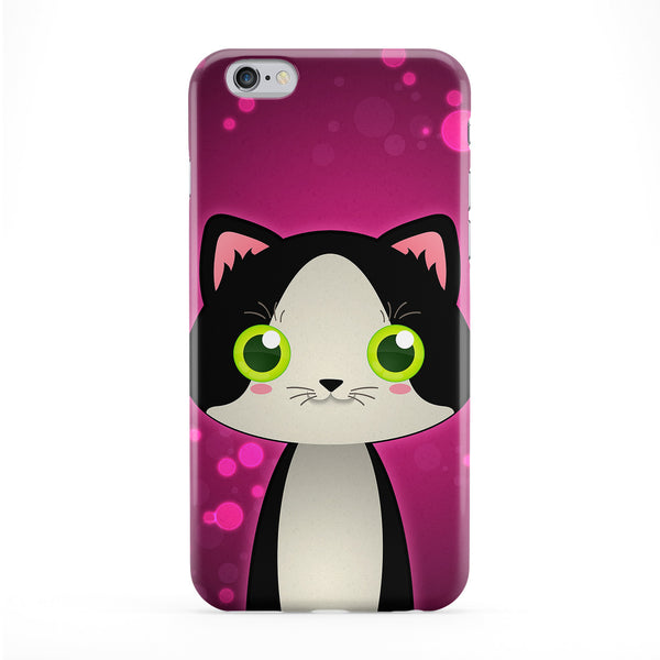 Cute Tuxedo Cat Full Wrap Protective Phone Case by DevilleArt