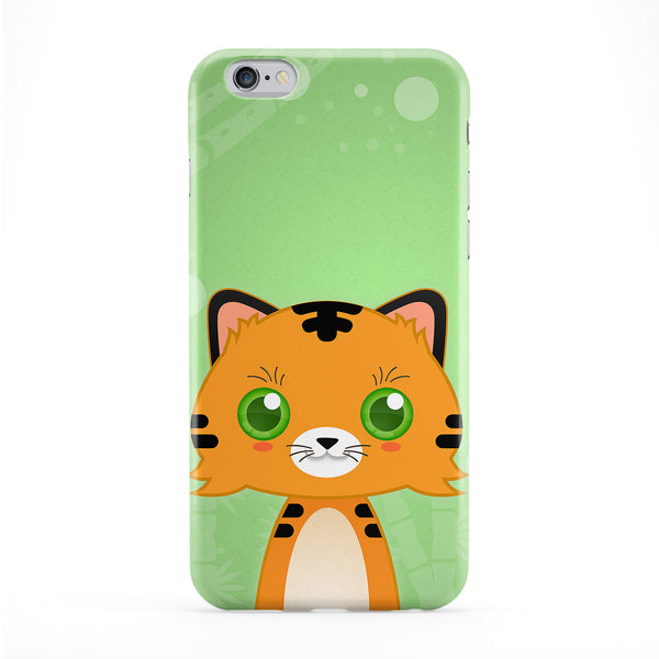 Cute Tiger Full Wrap Protective Phone Case by DevilleArt