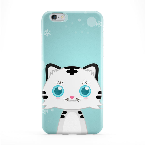 Cute Snow Tiger Full Wrap Protective Phone Case by DevilleArt