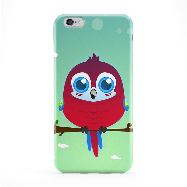 Cute Scarlet Macaw Parrot Phone Case by DevilleArt
