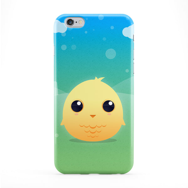 Cute Little Yellow Chick Full Wrap Protective Phone Case by DevilleArt