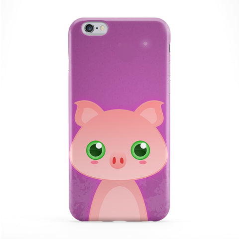 Cute Farmyard Pig Full Wrap Protective Phone Case by DevilleArt