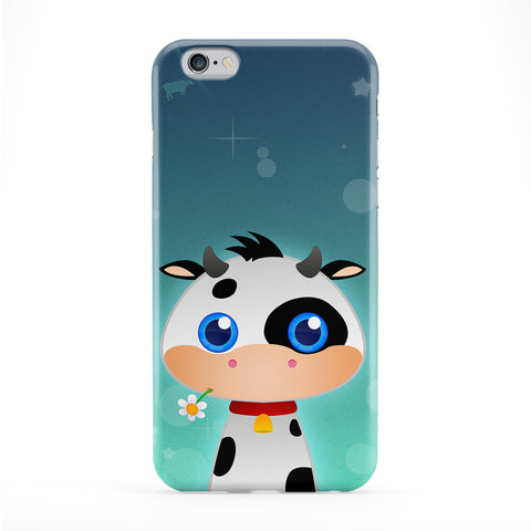 Cute Farmyard Cow Full Wrap Protective Phone Case by DevilleArt
