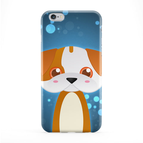 Cute English Bulldog Dog Full Wrap Protective Phone Case by DevilleArt