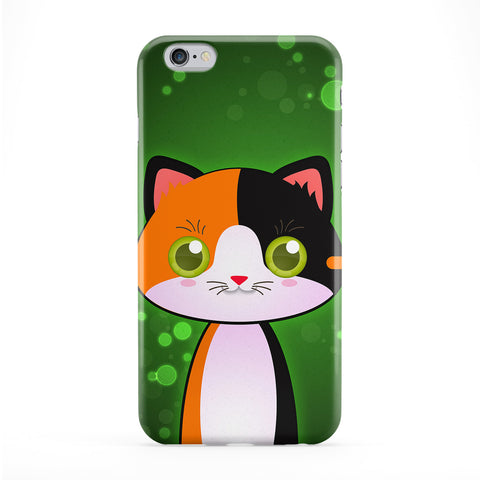 Cute Calico Cat Full Wrap Protective Phone Case by DevilleArt