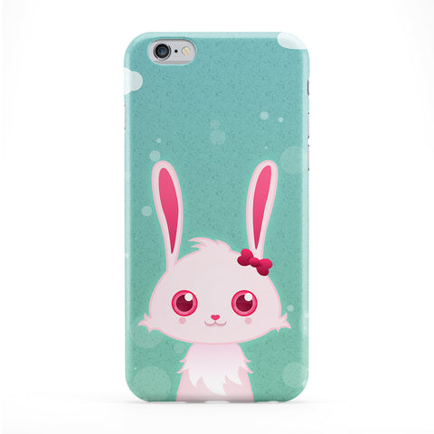 Cute Bunny Rabbit Full Wrap Protective Phone Case by DevilleArt