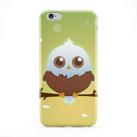 Cute Brown American Eagle Full Wrap Protective Phone Case by DevilleArt