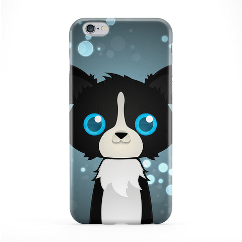 Cute Border Collie Dog Full Wrap Protective Phone Case by DevilleArt