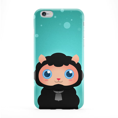 Cute Black Sheep Full Wrap Protective Phone Case by DevilleArt