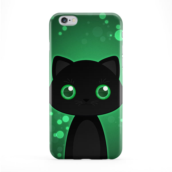 Cute Black Cat Full Wrap Protective Phone Case by DevilleArt