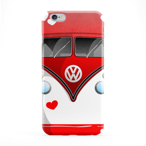 Campervan Hearts Full Wrap Protective Phone Case by DevilleArt