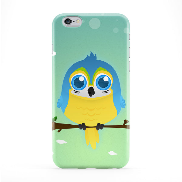 Blue & Yellow Macaw Parrot Full Wrap Protective Phone Case by DevilleArt