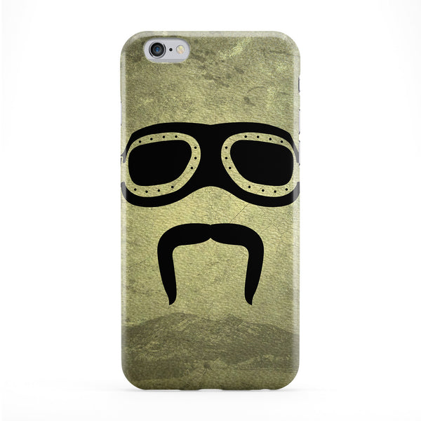 Biker Moustache Full Wrap Protective Phone Case by DevilleArt