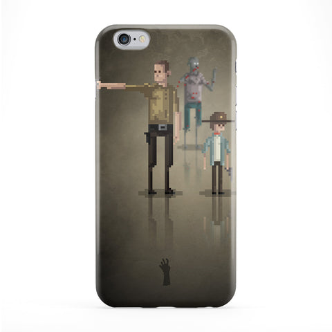 8bit Movies Walking Dead Full Wrap Protective Phone Case by DevilleArt