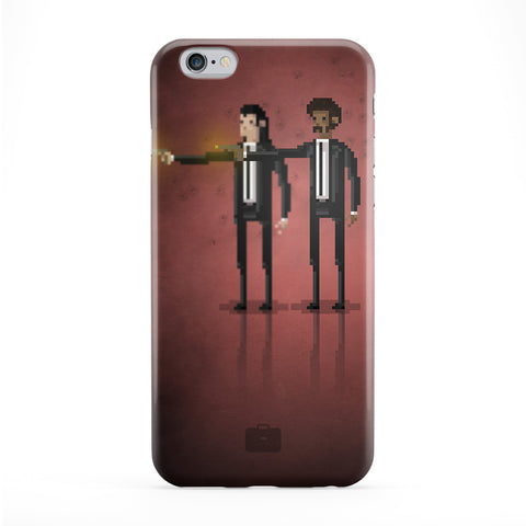 8bit Movies Pulp Fiction Full Wrap Protective Phone Case by DevilleArt