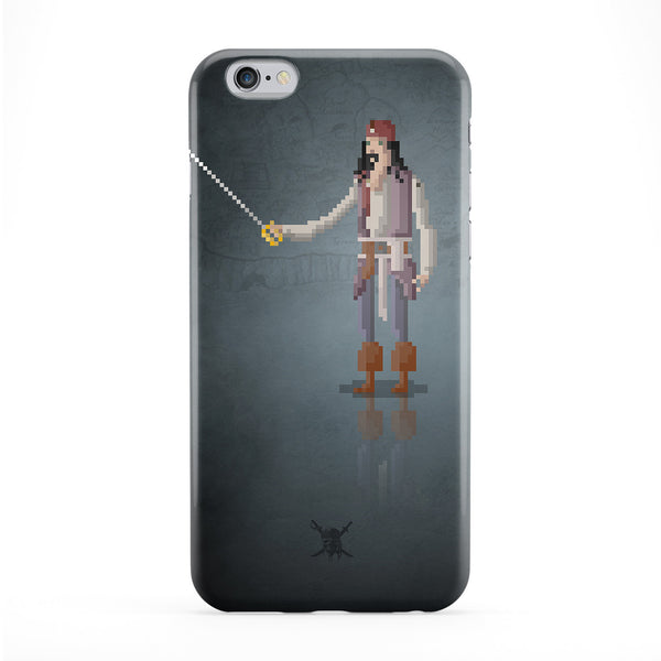 8bit Movies Jack Sparrow Full Wrap Protective Phone Case by DevilleArt