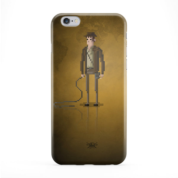 8bit Movies Indiana Jones Phone Case by DevilleArt
