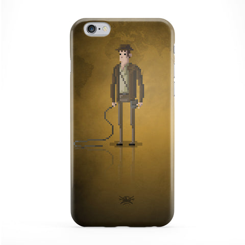 8bit Movies Indiana Jones Full Wrap Protective Phone Case by DevilleArt