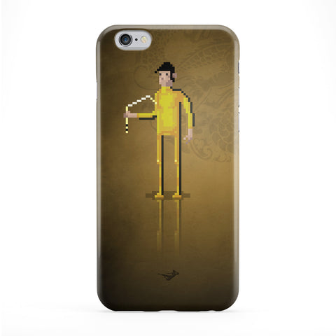 8bit Movies Bruce Lee Full Wrap Protective Phone Case by DevilleArt