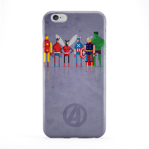 8Bit Marvel Avengers Full Wrap Protective Phone Case by DevilleArt