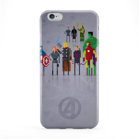 8Bit Marvel Avengers Movie Full Wrap Protective Phone Case by DevilleArt