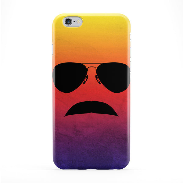 80s Moustache Full Wrap Protective Phone Case by DevilleArt