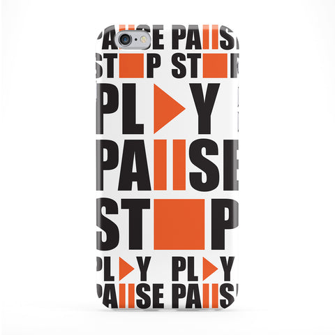 Play Pause Stop Phone Case by Gangtoyz