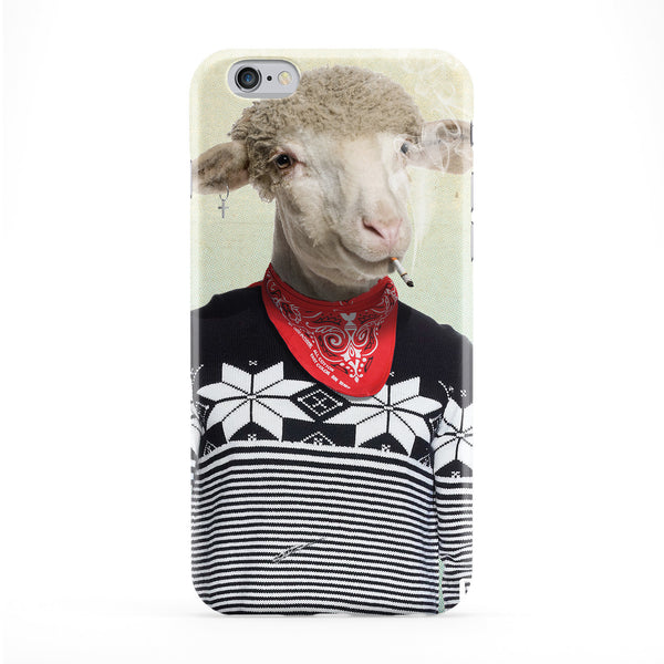 Elvis Sheep Full Wrap Protective Phone Case by Gangtoyz