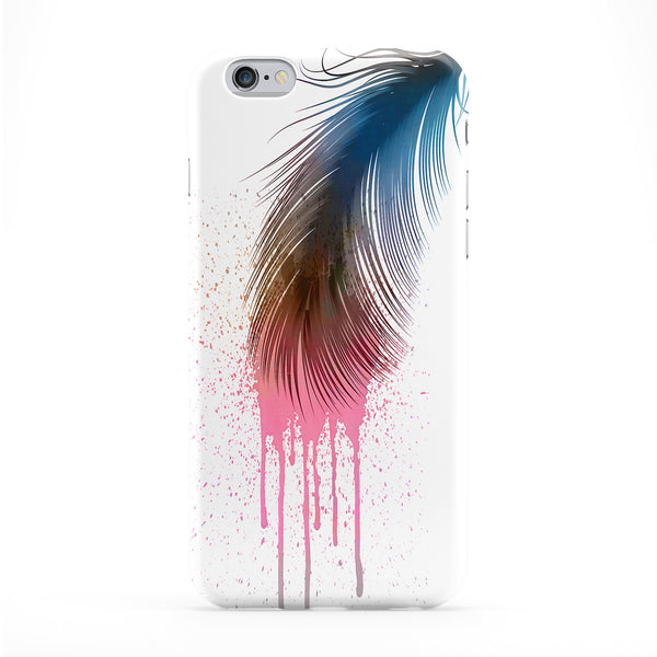 Colors Feather White Phone Case by Gangtoyz