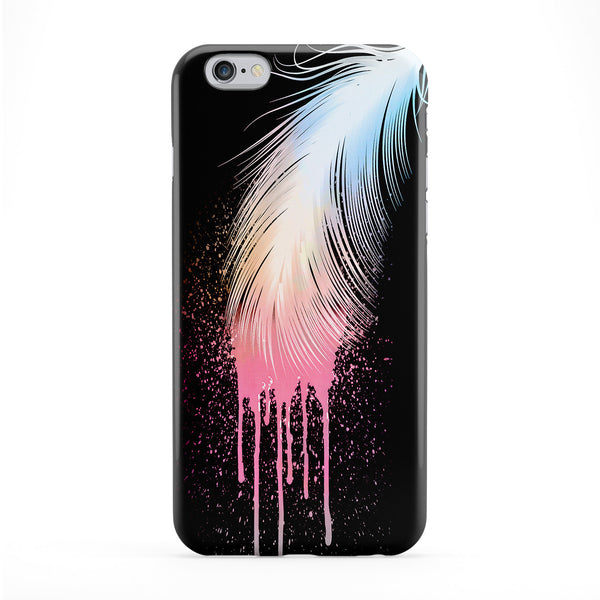 Colors Feather Black Phone Case by Gangtoyz