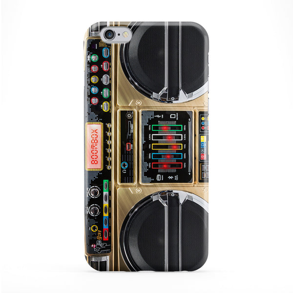 Boombox Bronze Full Wrap Protective Phone Case by Gangtoyz