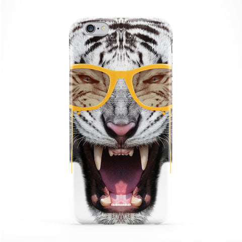 Yellow Fury Tiger Phone Case by Gangtoyz